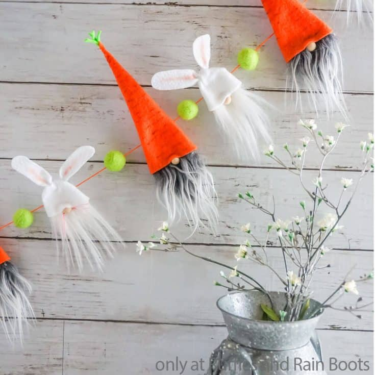 easter gnome garland diy easter gnome