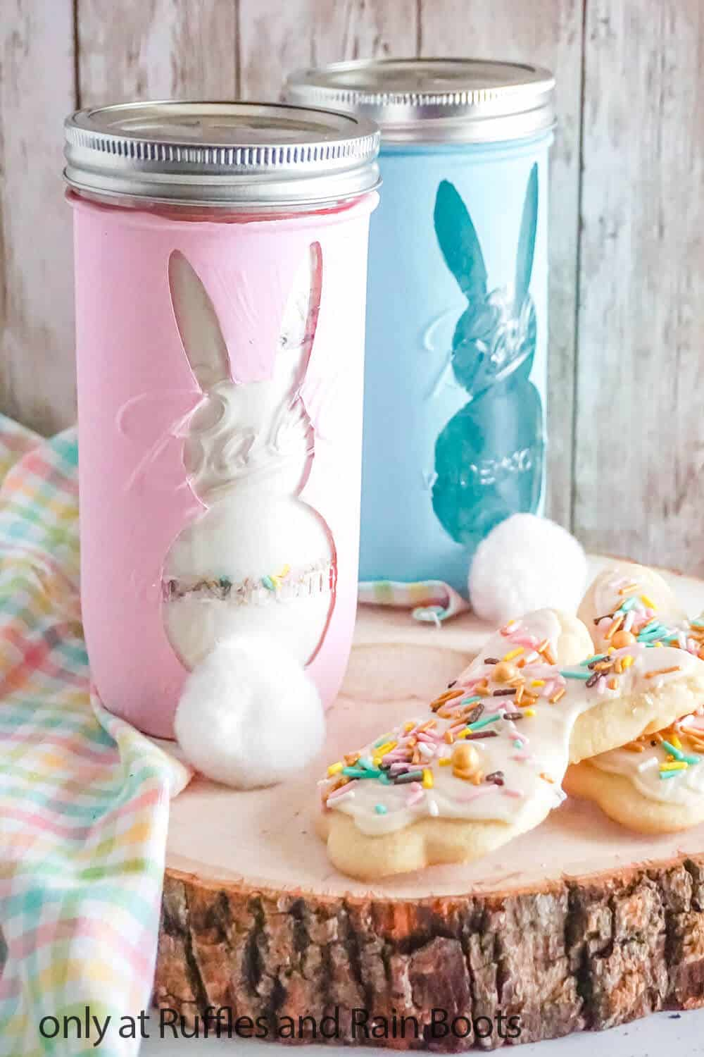 cookie mix for easter cookies gift in a jar craft