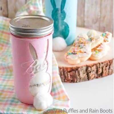 Bunny Cookie Mix Gift in a Jar – How to Paint Mason Jars Using Cricut Stencils