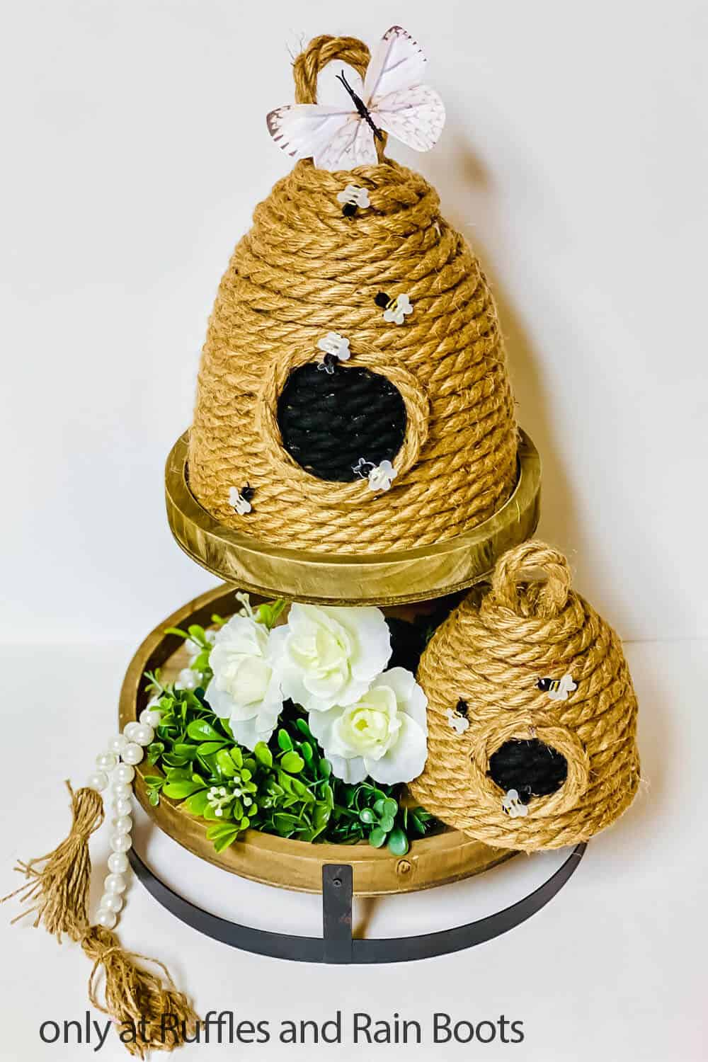 dollar store bee hive craft