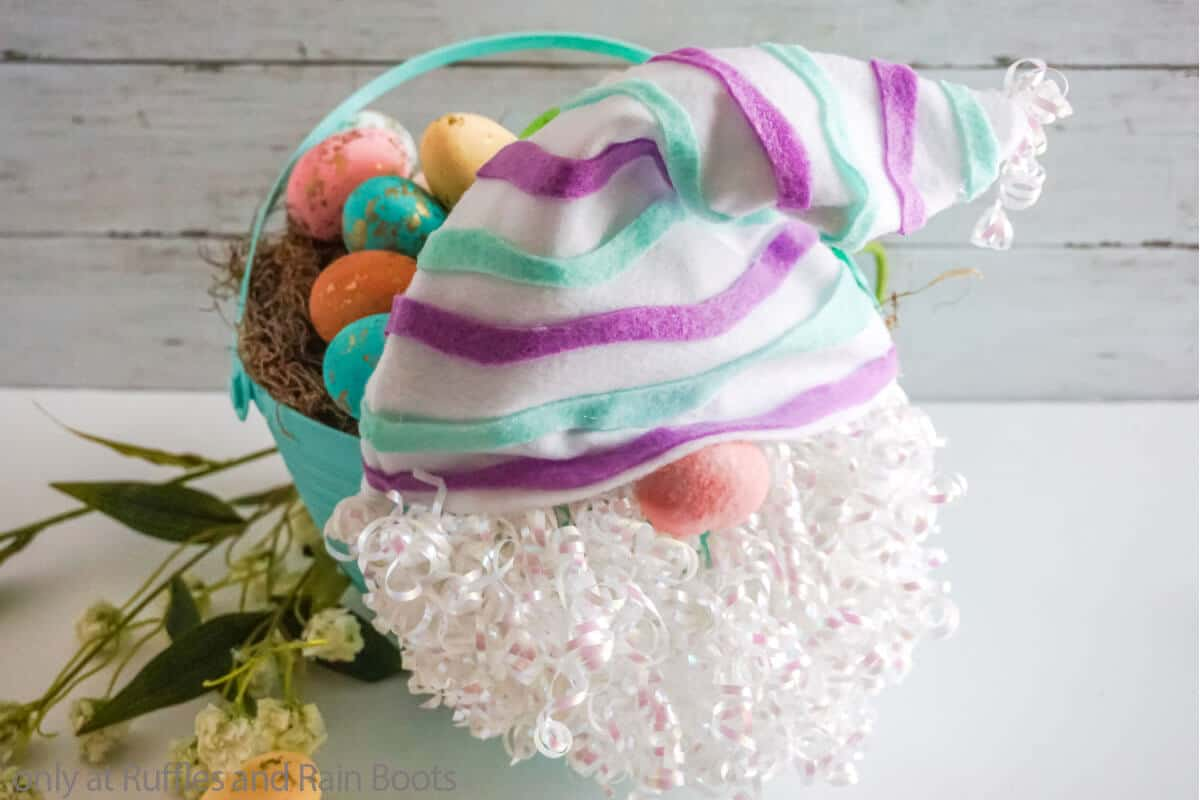 gnome easter egg basket dollar tree craft
