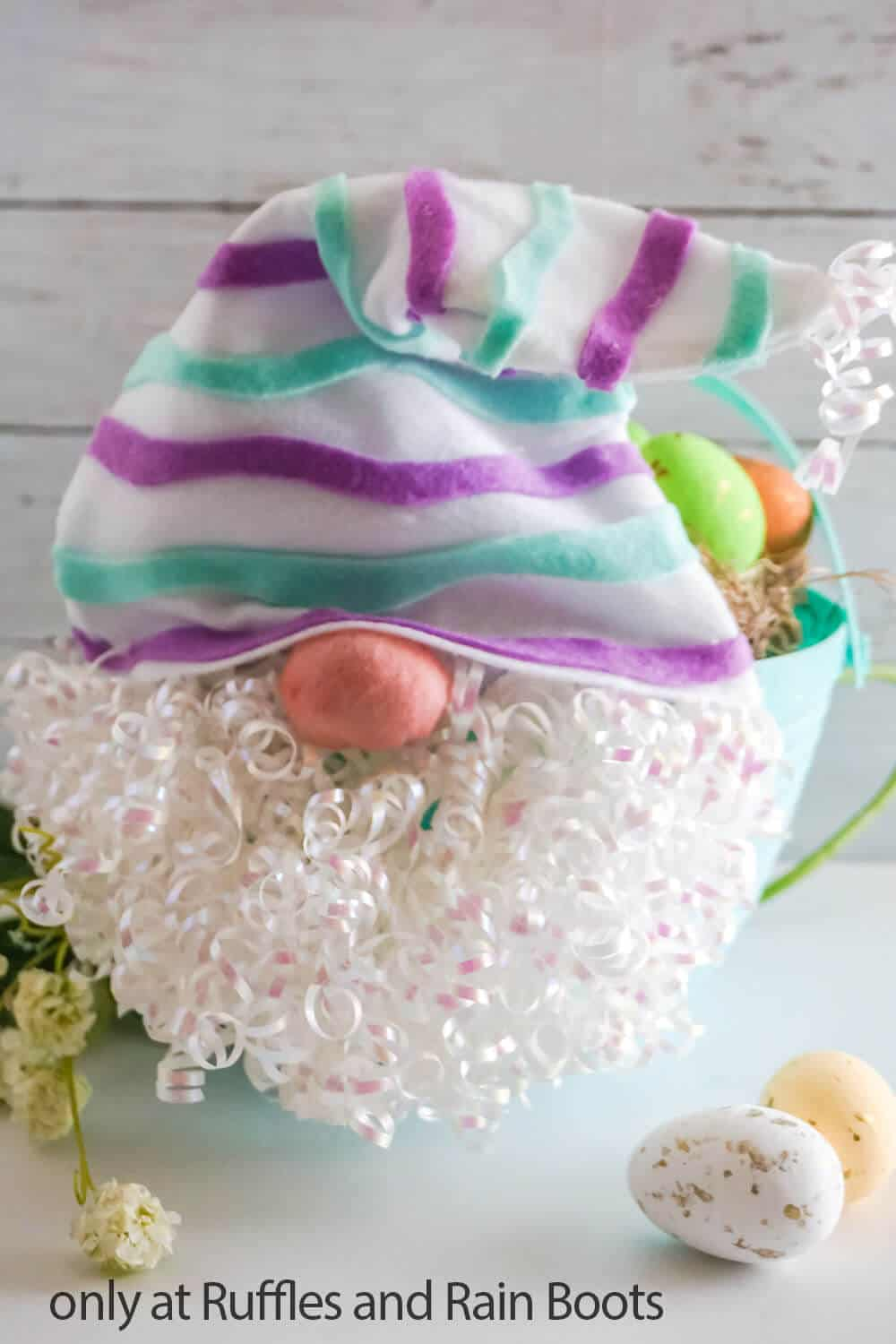 easter egg basket gnome craft