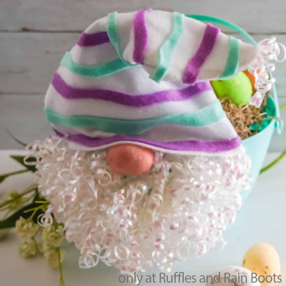 dollar tree easter basket gnome