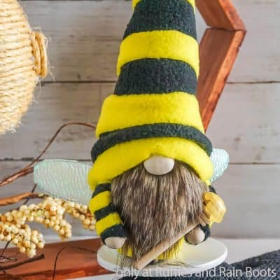 This Adorable Bee No-Sew Gnome Pattern is So Fun and Has DIY Wings!
