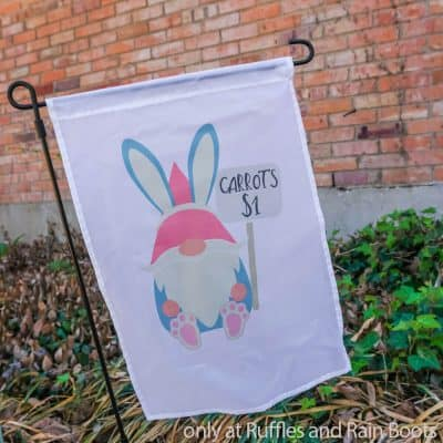 How to Make a Sublimation Yard Flag Featuring an Easter Gnome