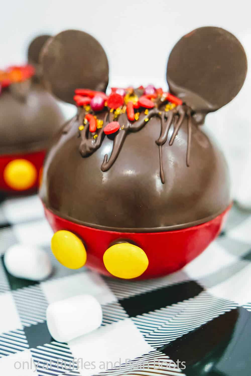mickey mouse cocoa bombs with ears