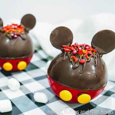 Make These Mickey Mouse Hot Cocoa Bombs with Ears in Minutes!