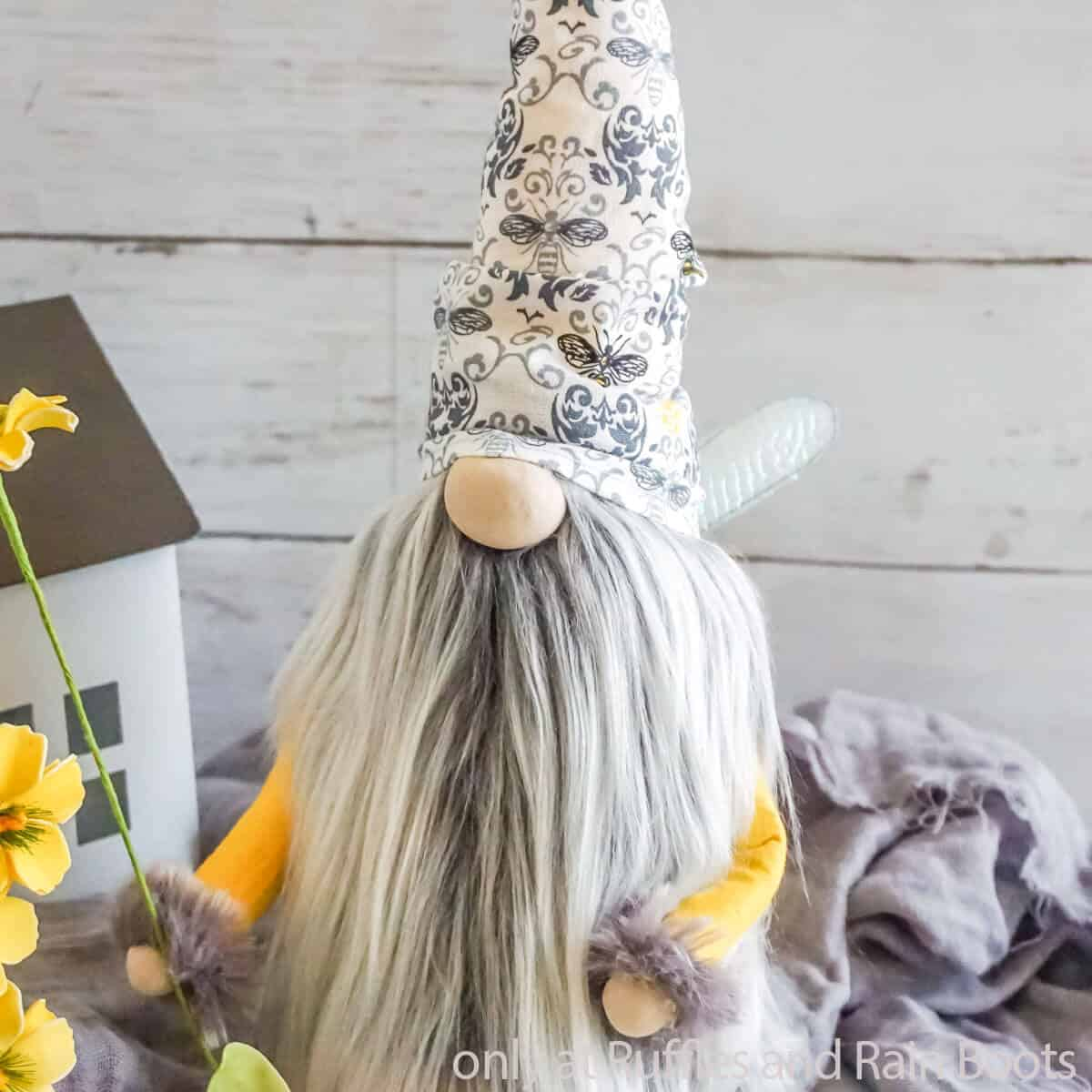 honey bee gnome sewing pattern with wings