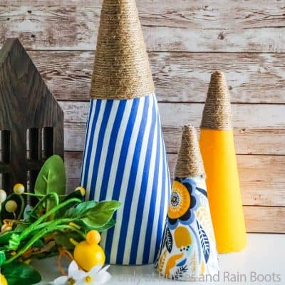 These Easy and Fun Summer Farmhouse Trees are a Great Summer Craft!