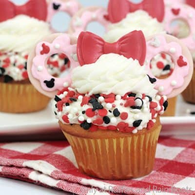 These Donut Minnie Cupcakes are Ridiculously Cute and Easy to Boot!