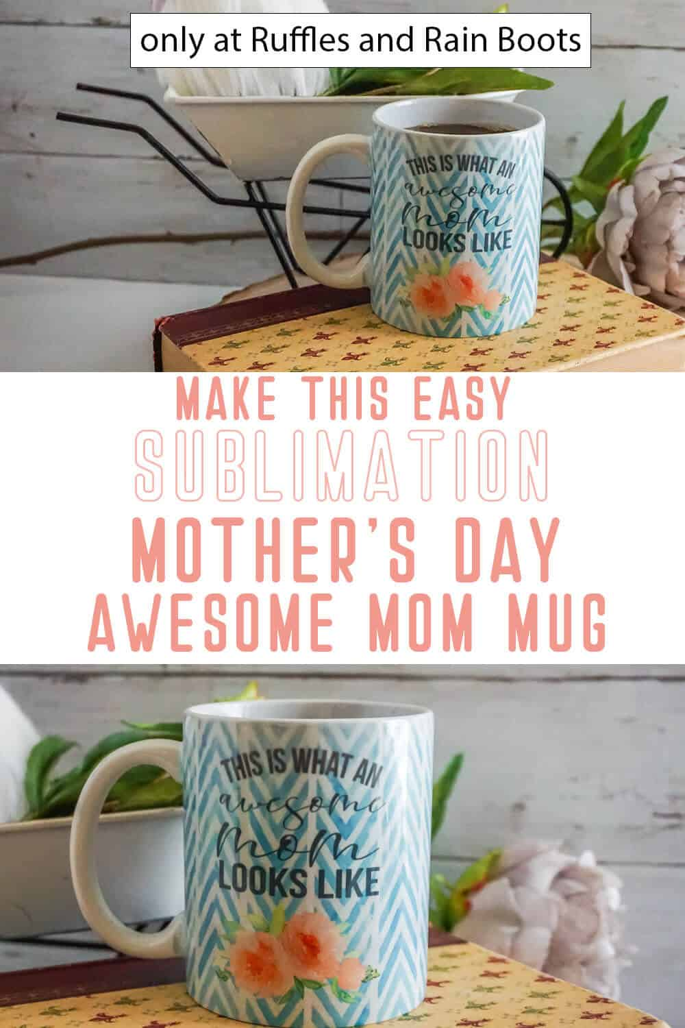 photo collage of this is what an awesome mom looks like mug design with text which reads make this easy sublimation mmother's day awesome mom mug