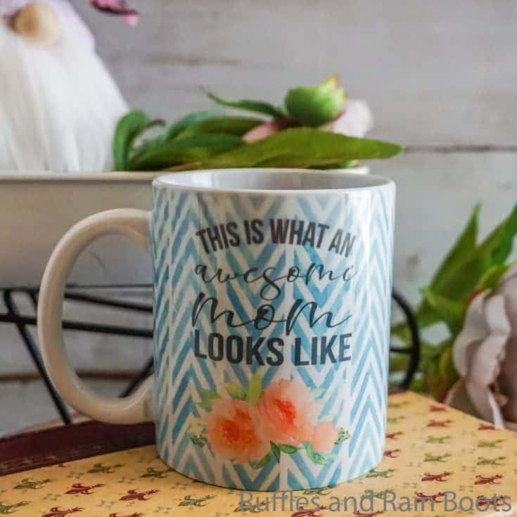 easy diy mother's day gift awesome mom mug sublimation