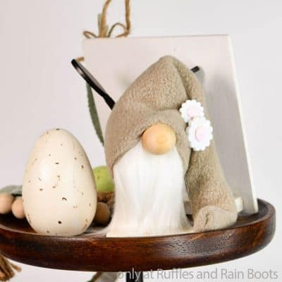 This Tiny Tiered Tray Gnome is Made from Scraps and So Cute!