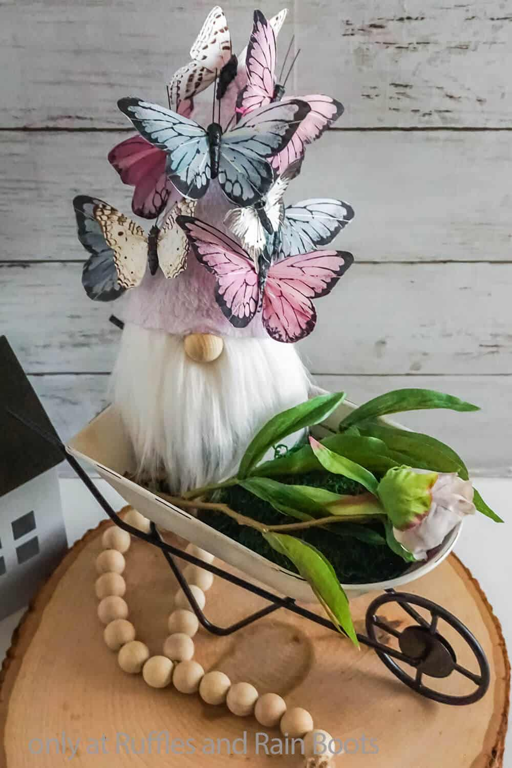 butterfly hat diy spring gnome