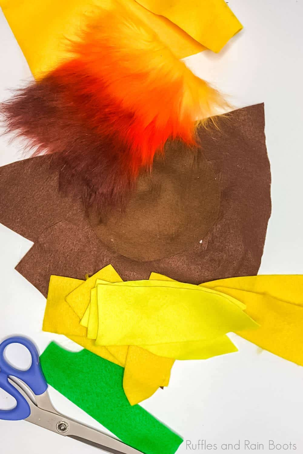 supplies to make a sunflower hat gnome sewing pattern