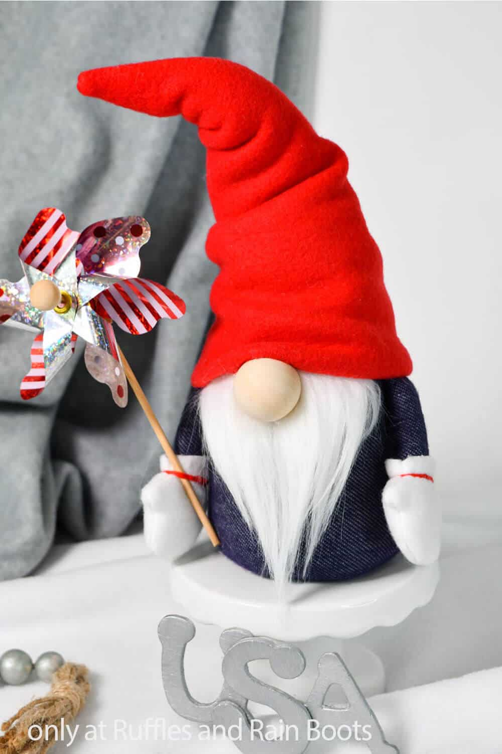 pattern to make a gnome in patriotic colors