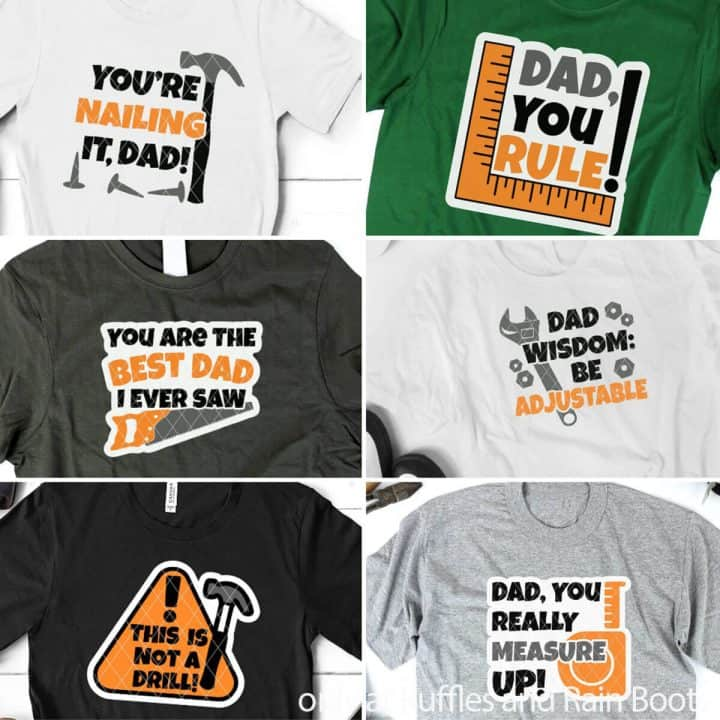 photo collage of father's day svg bundle for cricut or silhouette