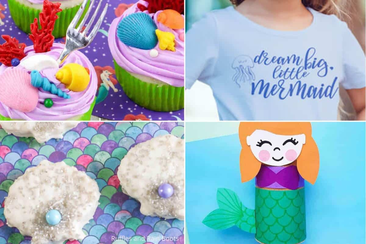 photo collage of under the sea party ideas