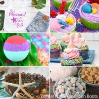 photo collage of mermaid party ideas