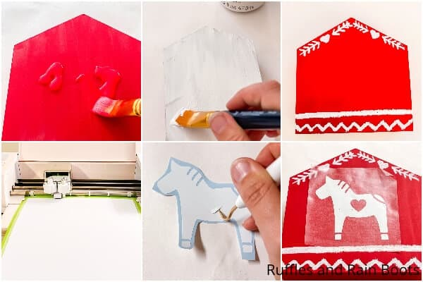 photo collage tutorial of how to make a diy scandinavian house