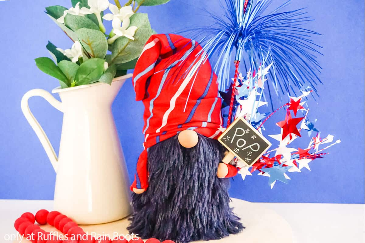dollar store gnome for fourth of july