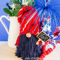 4th of july sock gnome from dollar store supplies