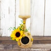 bee hive candle holder dollar tree craft