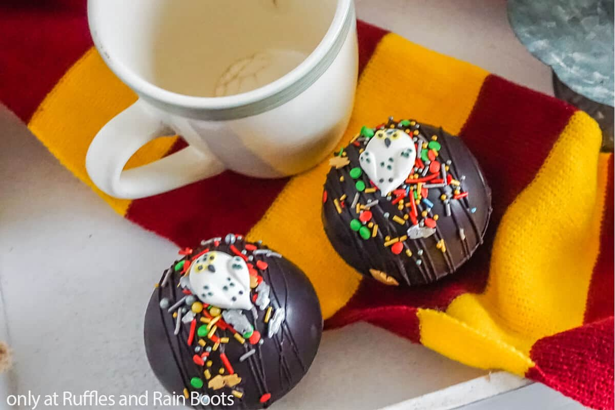 hedwig hot cocoa bombs for harry potter movie
