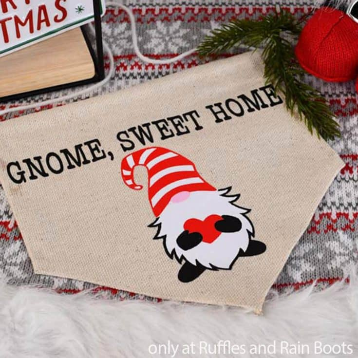 gnome sweet home gnome banner from a drop cloth
