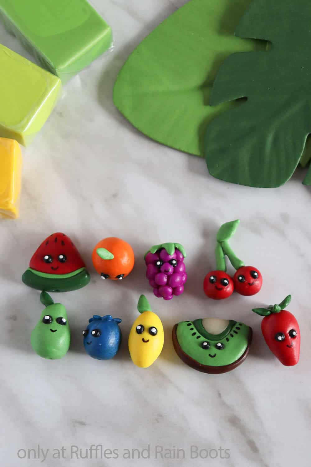 polymer clay fruit craft for teens