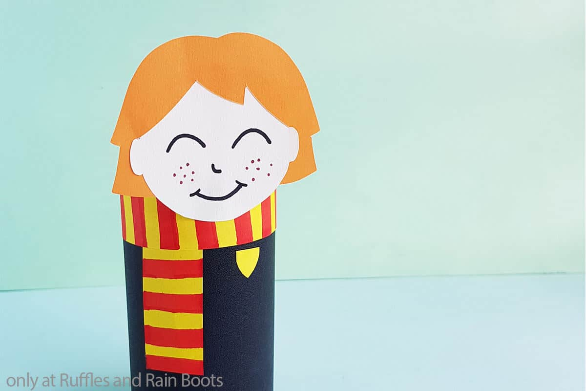 harry potter craft for kids ron weasley paper doll
