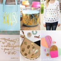 photo collage of gold foil craft ideas