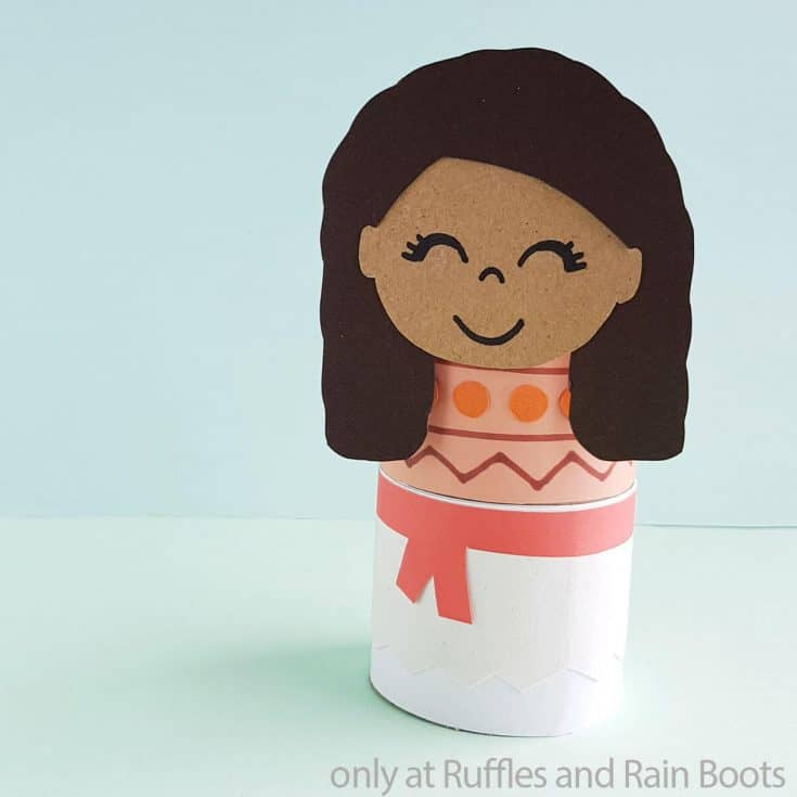 moana paper roll doll disney paper craft for kids