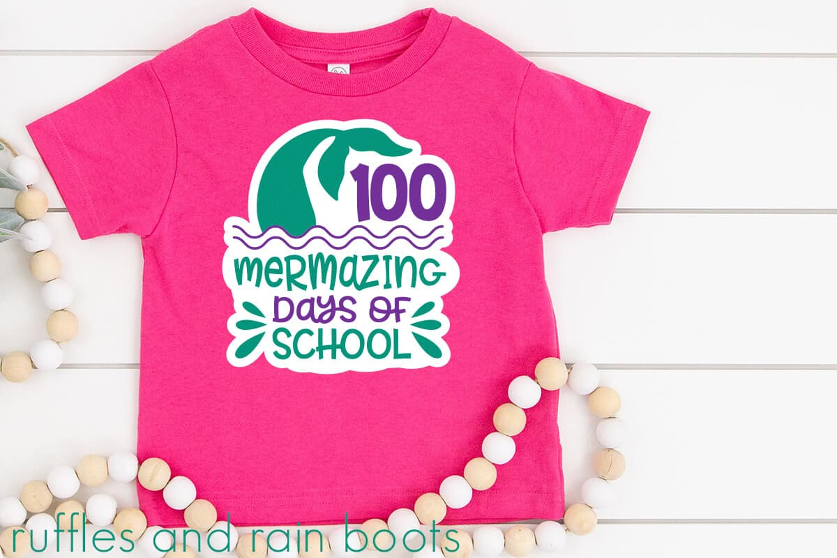 adorable mermaid 100 days of school svg for cricut silhouette