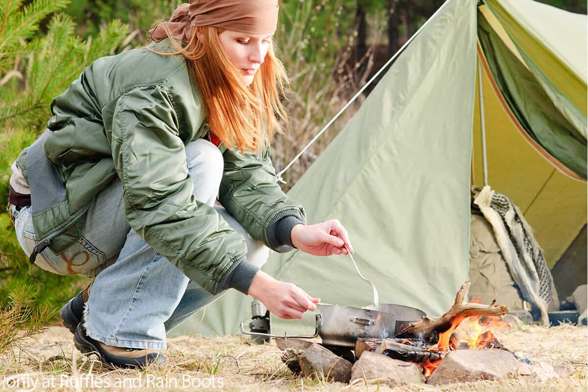 how to wash dishes on a camping trip