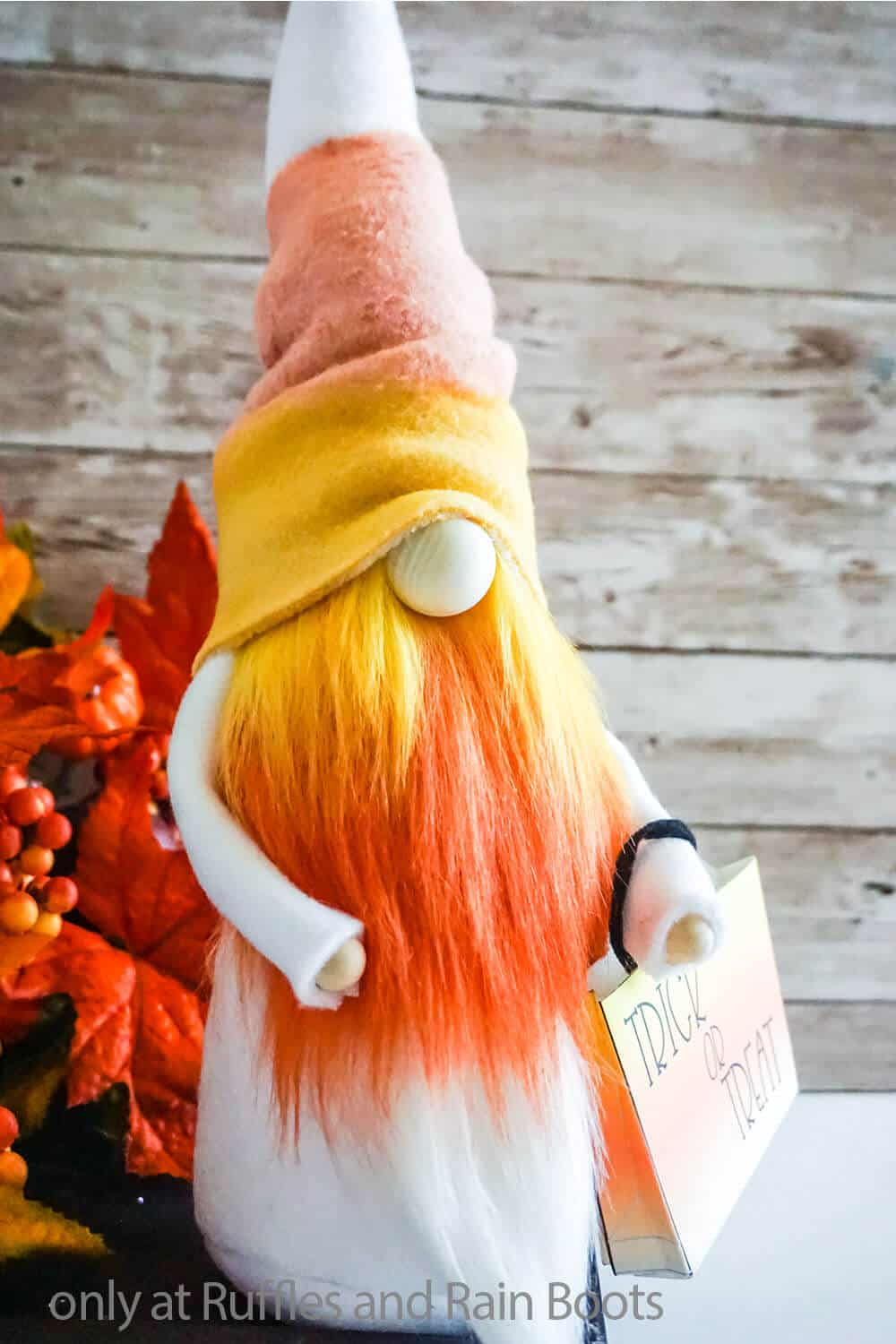 candy corn halloween gnome sewing pattern