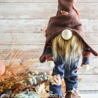 no-sew standing scarecrow gnome pattern