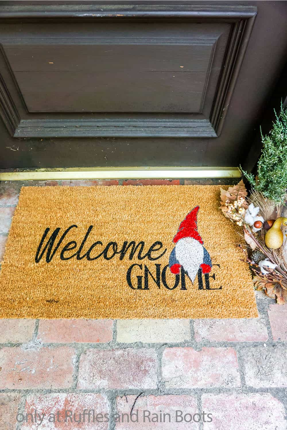 diy painted coir doormat with multiple colors