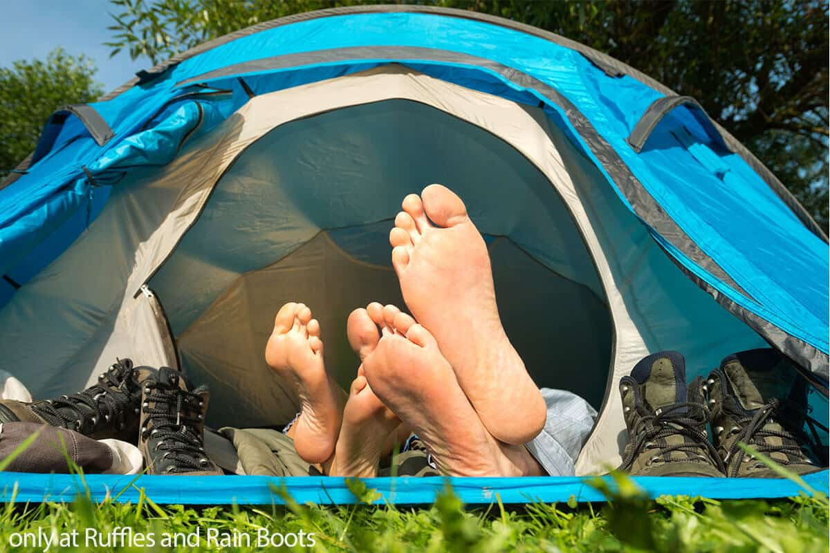 bring romance to camping