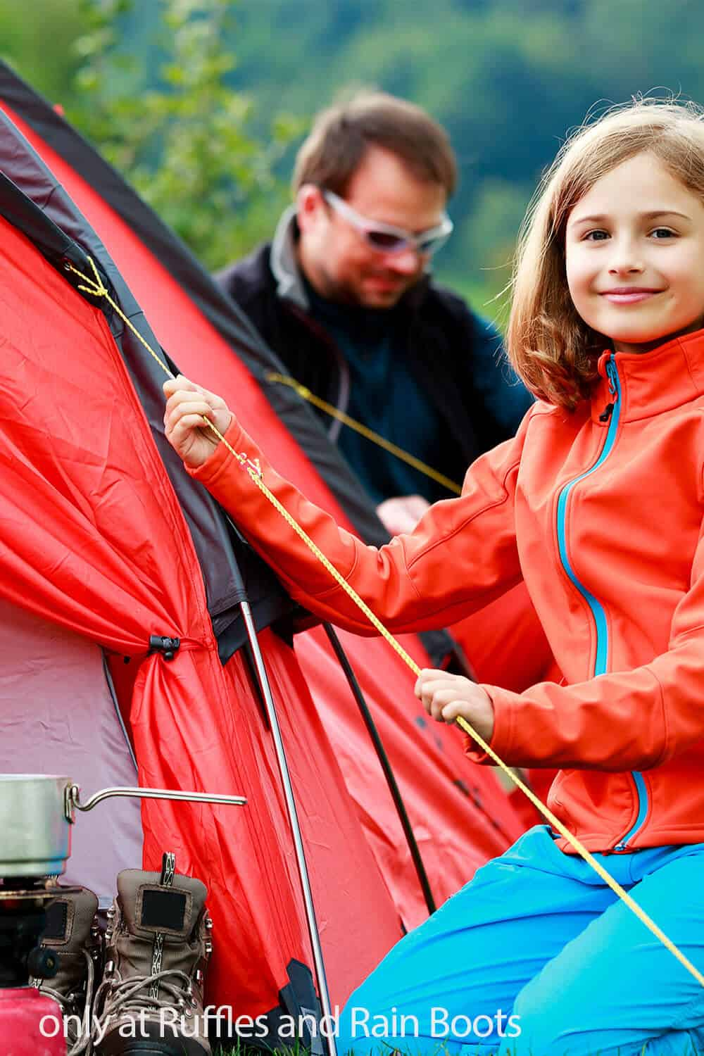 fun chores for kids when going camping