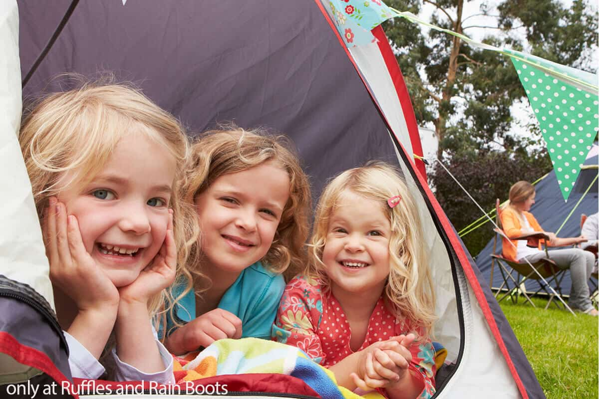 camping chores for kids that are fun