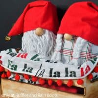 surprise inside gnomes from gift bags